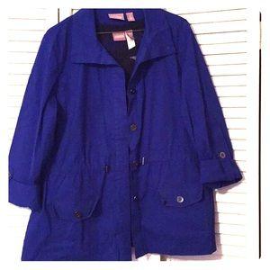 Chico's, layering jacket blue size 2